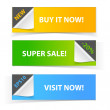 Colorful set of promotional sale banners — Stock Vector