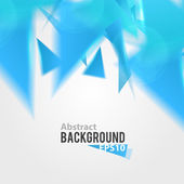 Abstract blue triangle background — Stock Vector
