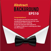 Abstract official paper elements red background — Vector de stock