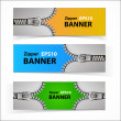 Promotional sale banners with zipper — Stock Vector