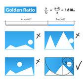 Golden Ratio,Golden Proportion — Stock Vector