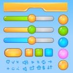 iconos y botones de juego ui elements.colorful — Vector de stock