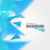 Soyut mavi üçgen arka plan — Stok Vektör
