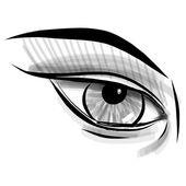 эскиз глаз. детские каракули стиль иллюстрации — Cтоковый вектор