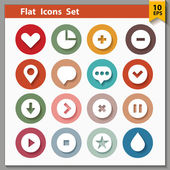 Web and interface icons collection — Stock Vector