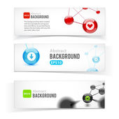 Colorful set of banners. Abstract design — Stock Vector