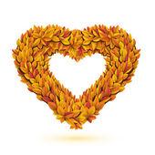 Bulle d'automne automne feuilles orange brillant — Vecteur