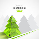 Noel ağacı ile arka plan — Stok Vektör