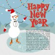 New year greeting card concept. — Stock Vector