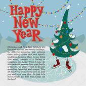 New year greeting card concept. — Vector de stock