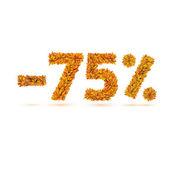 Sonbahar sonbahar parlak turuncu yaprak sayısını satılık — Stok Vektör