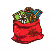 Bag full of presents. — Stock Vector