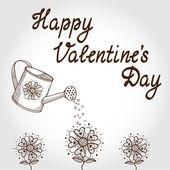 Valentine's day card concept. — Vector de stock