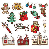 Christmas and New year design elements — Stock vektor