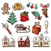 圣诞节和新年的设计元素 — 图库矢量图片