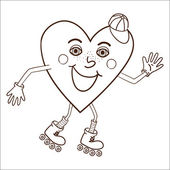 Happy heart abstract character. — Stock Vector