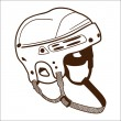 Stock Vector: Hockey helmet isolated on white.