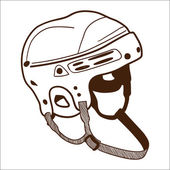 Hockey helmet isolated on white. — Stock Vector