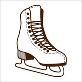 Ice skates isolated on white. — Stock Vector