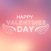 Abstract background with text for st. Valentine's day — Stock Vector