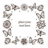 Butterflies frame. — Stock Vector