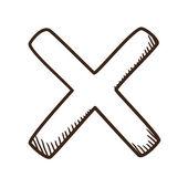 Cross No symbol. — Stock Vector