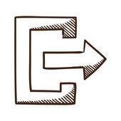 Exit symbol. — Stock Vector