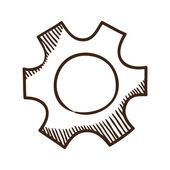 Gear symbol. — Stock Vector
