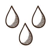 Drops symbol. — Stock Vector