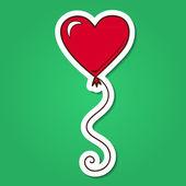 Heart air balloon. — Stock Vector