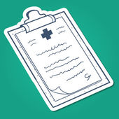 Prescription, case history card. — Vector de stock