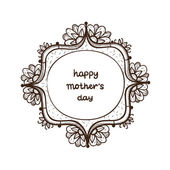 Frame with text for Mother's day. — Stock Vector