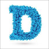 D letter. — Stock Vector