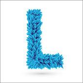 L letter. — Stock Vector