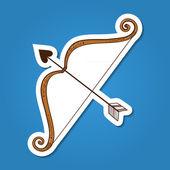 Bow with love arrow. — Stock Vector