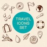 Travel and vacation symbols set. — Stock Vector #46763519