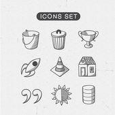 Miscellaneous symbols set. — Stock Vector