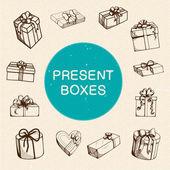 Coleção de caixas de presente. — Vetorial Stock