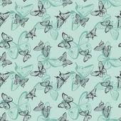 Butterflies seamless pattern. — Stock Vector