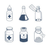 Medicines drugs collection. — Stock Vector