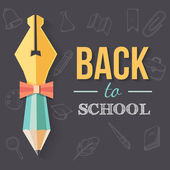 Back to school background. — Stock Vector