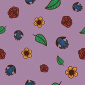 Bezszwowe kwiatów wzór. elementy szkicu projektu. — Wektor stockowy