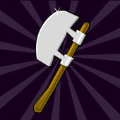 Shining poleaxe icon — Stock Vector
