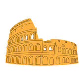 Colosseum isolated on white. — Stock Vector