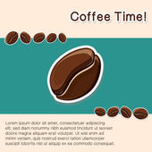 Coffee concept background. — Stock Vector