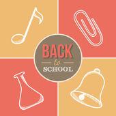 Bienvenue à l'école. — Vecteur
