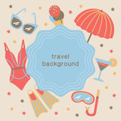 Summertime vacations and traveling background. — Stock Vector