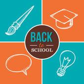 Добро пожаловать обратно в школу. — Cтоковый вектор