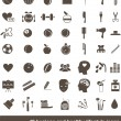 Hygiene and healthy lifestyle icons — Imagen vectorial
