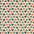 Stockvector : Seamless hearts pattern